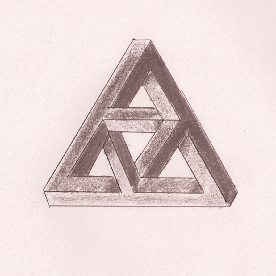 Sketch: Double Impossible Triangle By Doomguy1001 How To Draw
