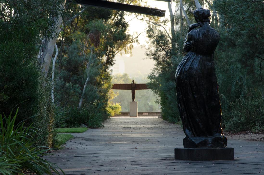 Sculpture Garden - National Gallery of Australia by DOOMGUY1001