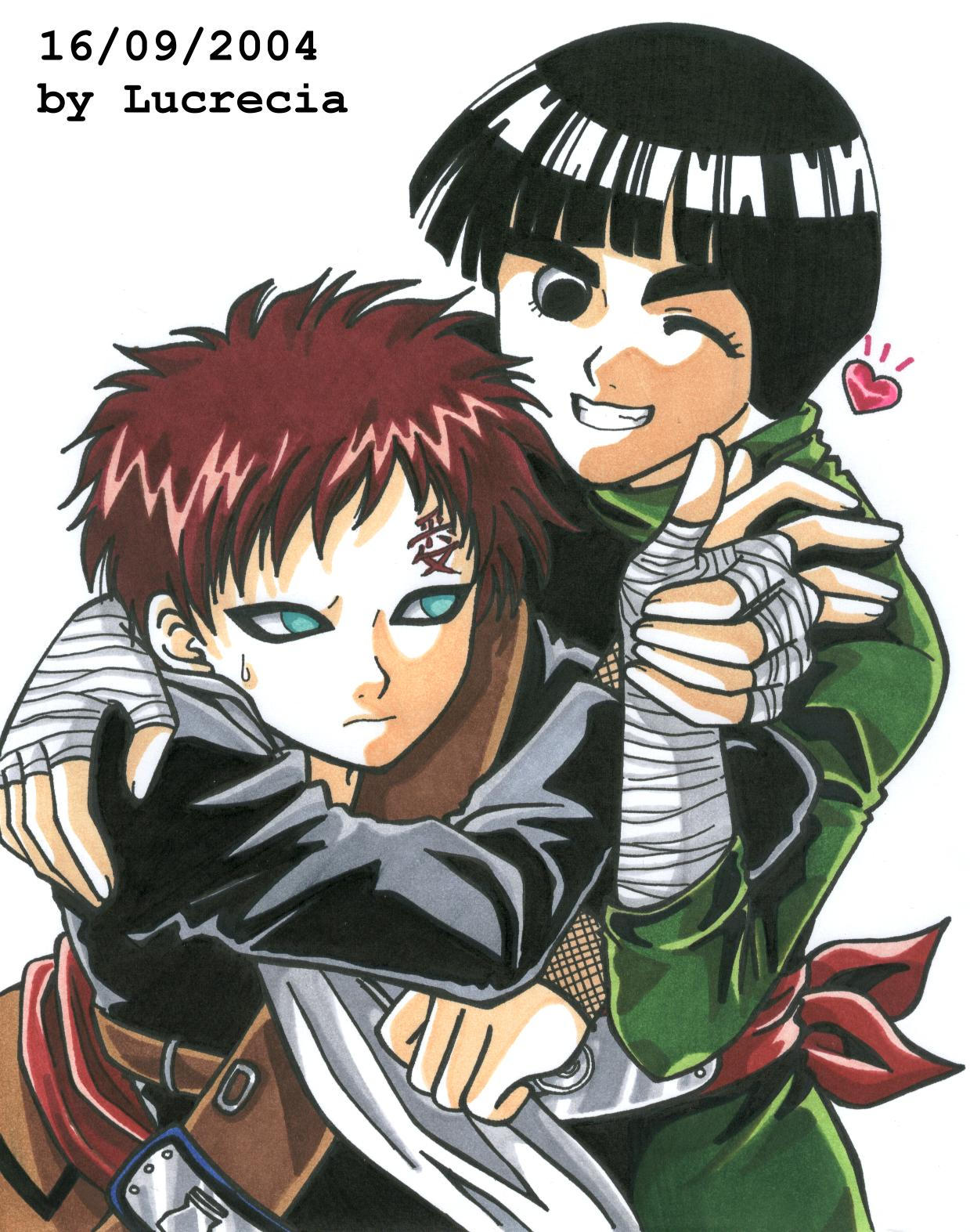 Say Cheeeeese -Gaara and Lee- by lucrecia on DeviantArt Gaara And Lee