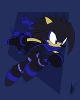 Commission EdgeTenebris: Edge the Hedgehog by ShockRabbit