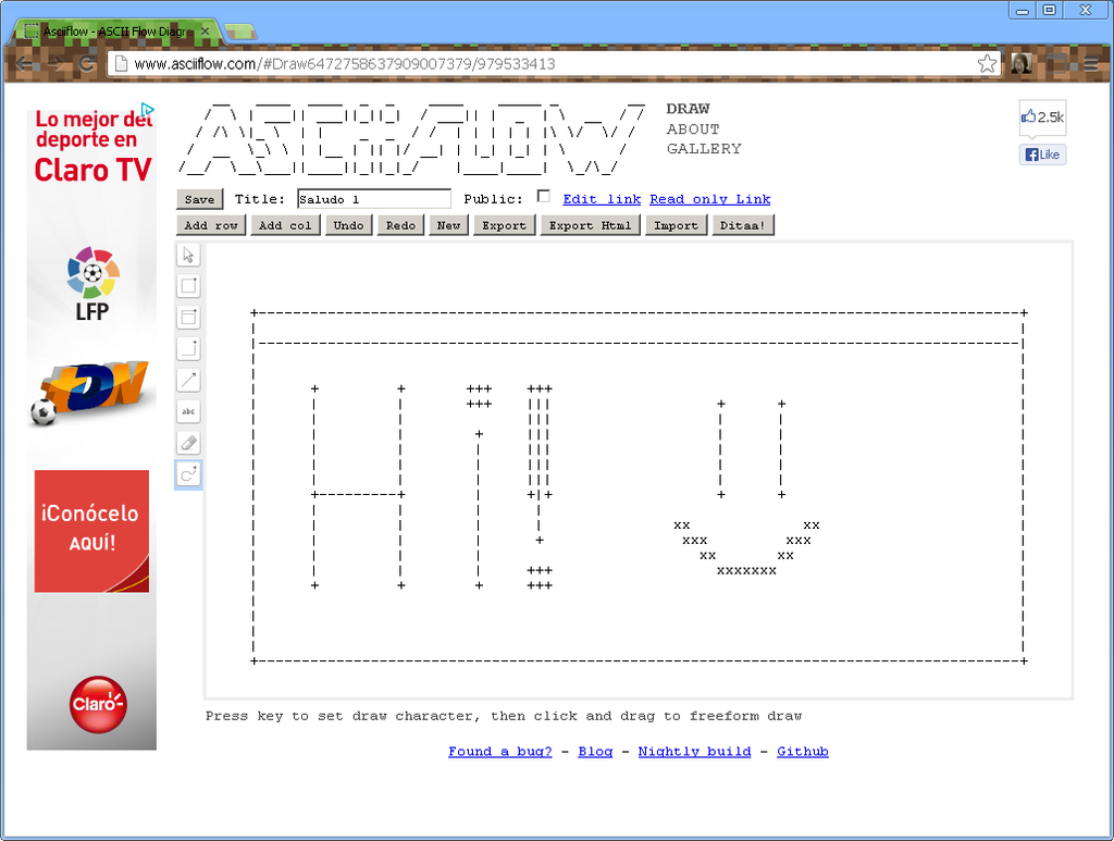 Dibujo en ASCII 1 by THEMRCAGDL
