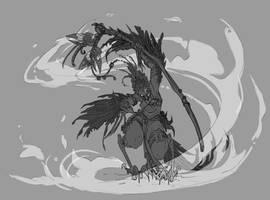 Harpy eagle shaman