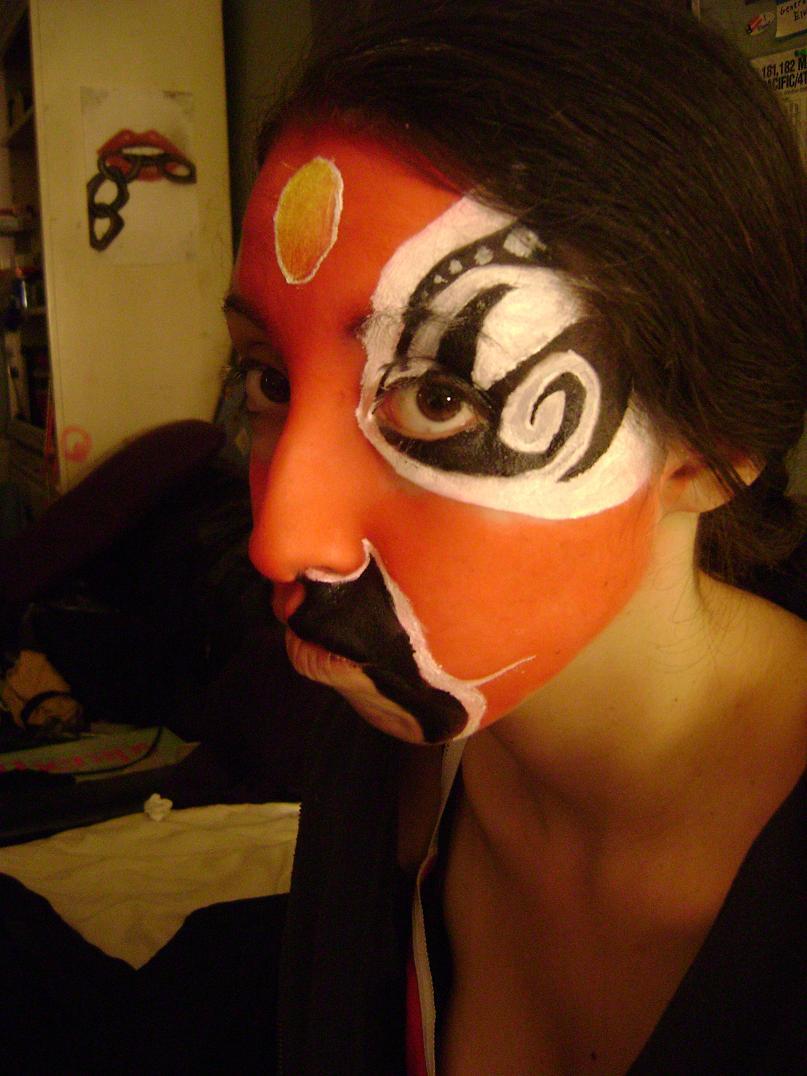 Half Chinese Opera Makeup By Elfb0y On Deviantart