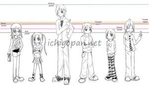 Ichigopan Height Chart