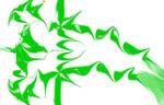 Green shred art