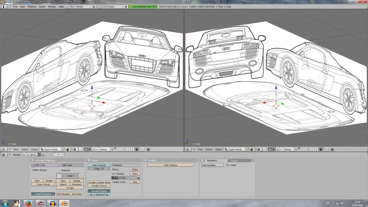Blender place blueprint audi r8 by florianracing on deviantart blender place blueprint audi r8 by florianracing malvernweather Image collections
