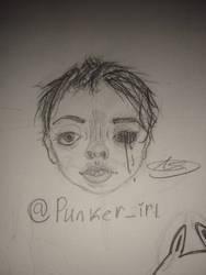I drew someone I'm following on tik tok by thatonepankid