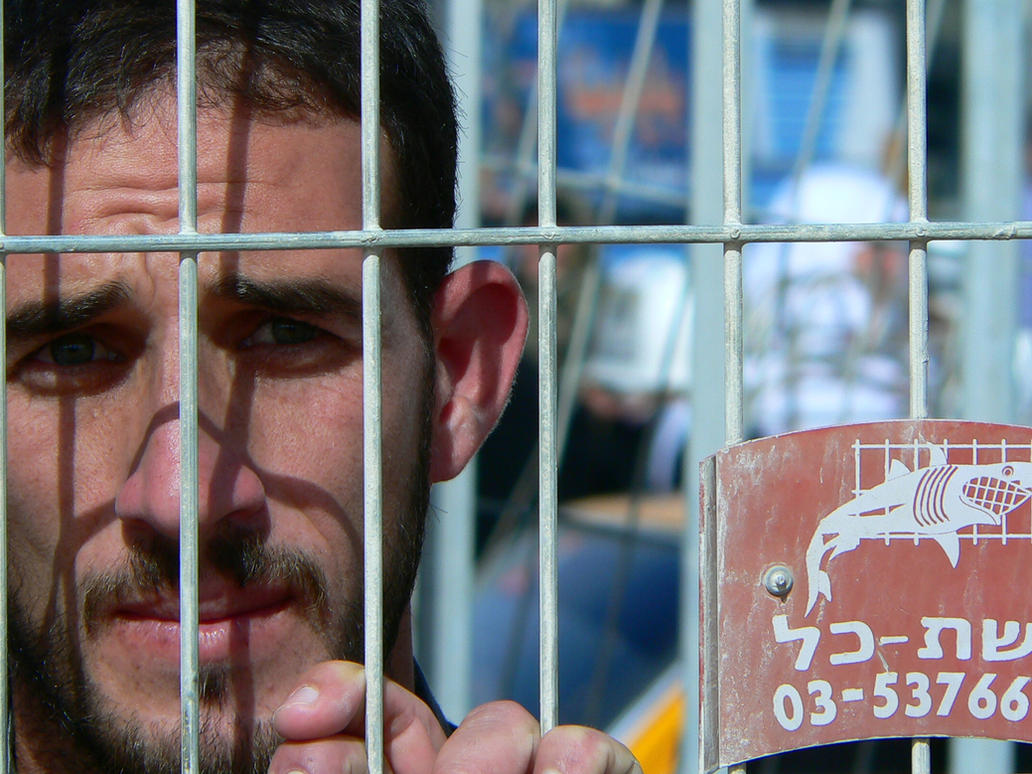 Man at Rafah Crossing by restlesswanderer