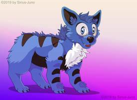 Blu Noire (Blue Hyena) by KiraPhotos