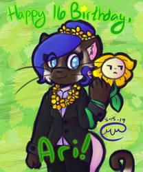 Happy Birthday Ari! by MikalaMouse