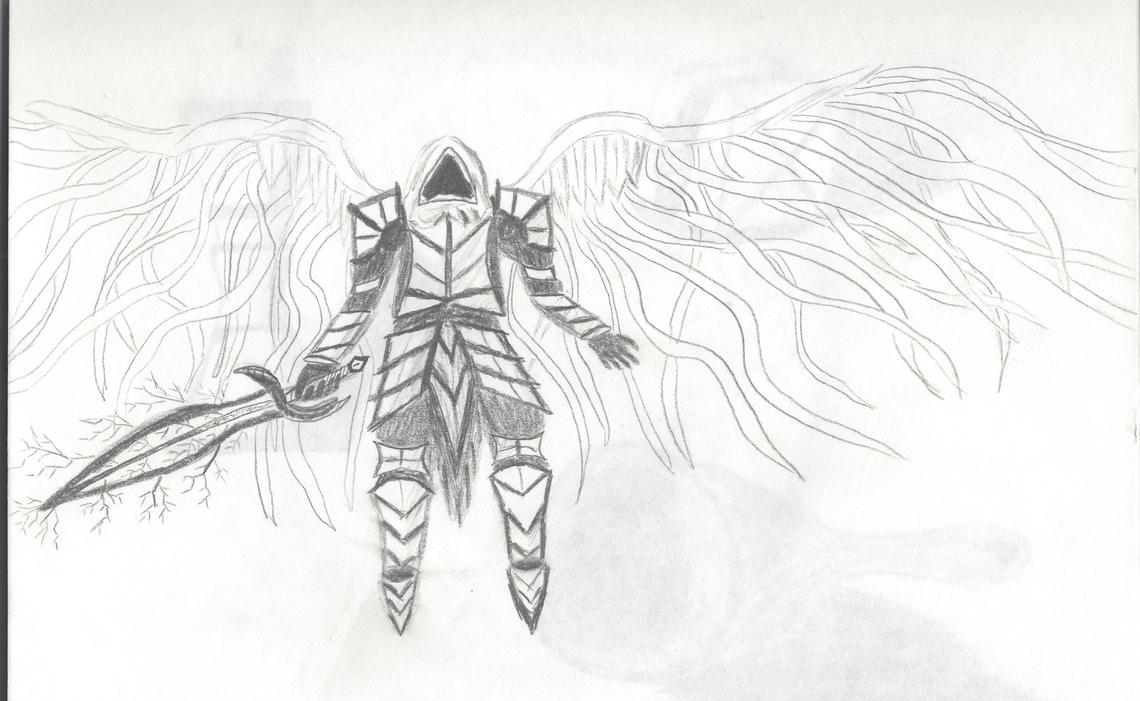 Angel Warrior Drawing by Angelfire400 on DeviantArt