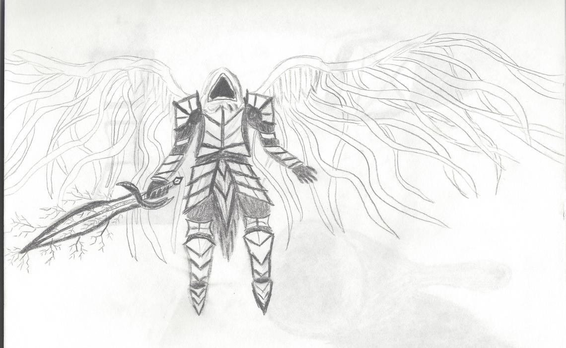 Angel Warrior Drawing by Angelfire400 on DeviantArt