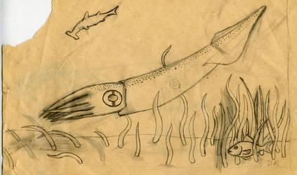 Squid Sketch by psycholee