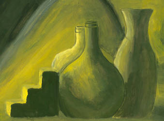 Yellow Still life by psycholee