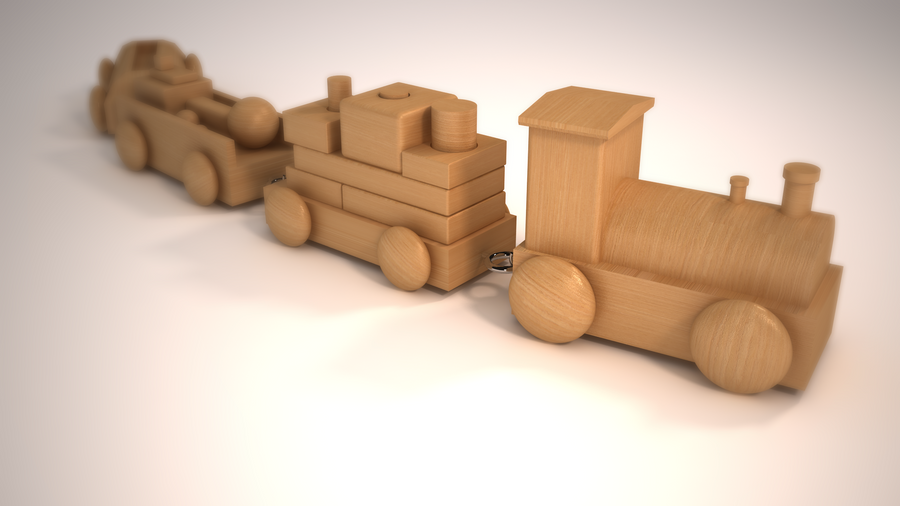 wooden toy train by berabaskurt on DeviantArt