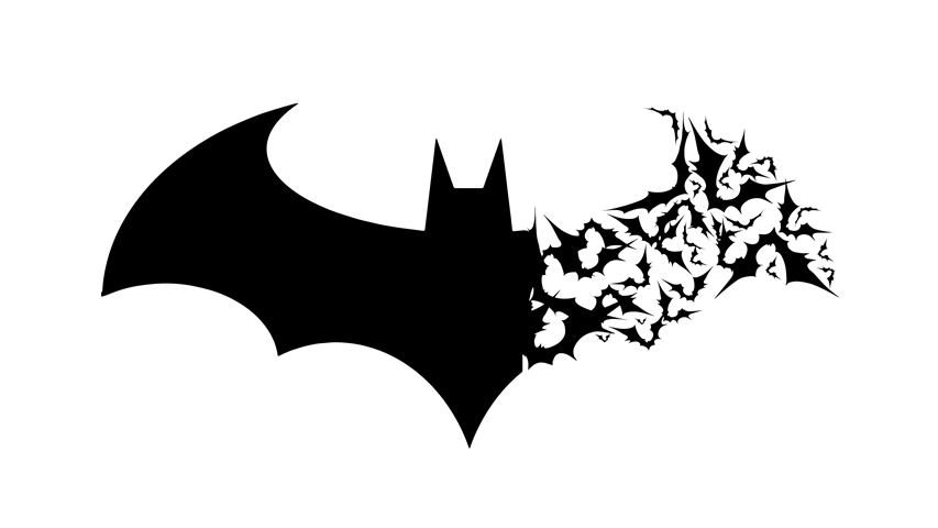 Arkham Logo with Bats by berabaskurt