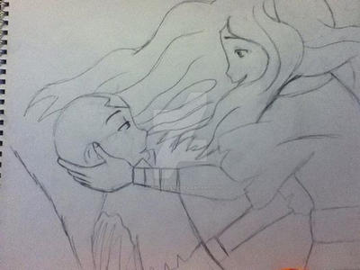 Aang And Katara by SammieLoveya