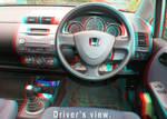 Drivers View in Honda Jazz