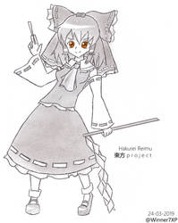 Hakurei no Miko by Winner7XP