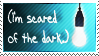 Scared of the Dark Stamp by StirFryKitty