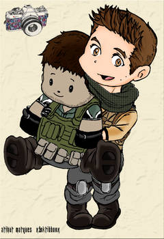 Piers chibi and Captain bearfield