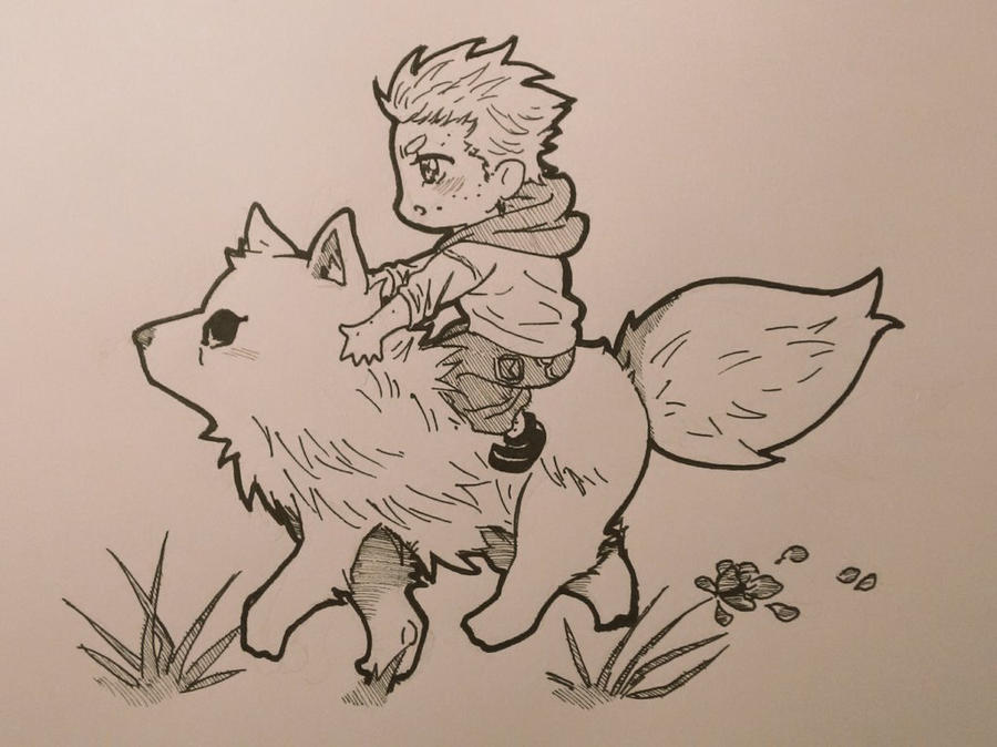 Getting a ride in Wolfy!Derek  by XInkRibbonX