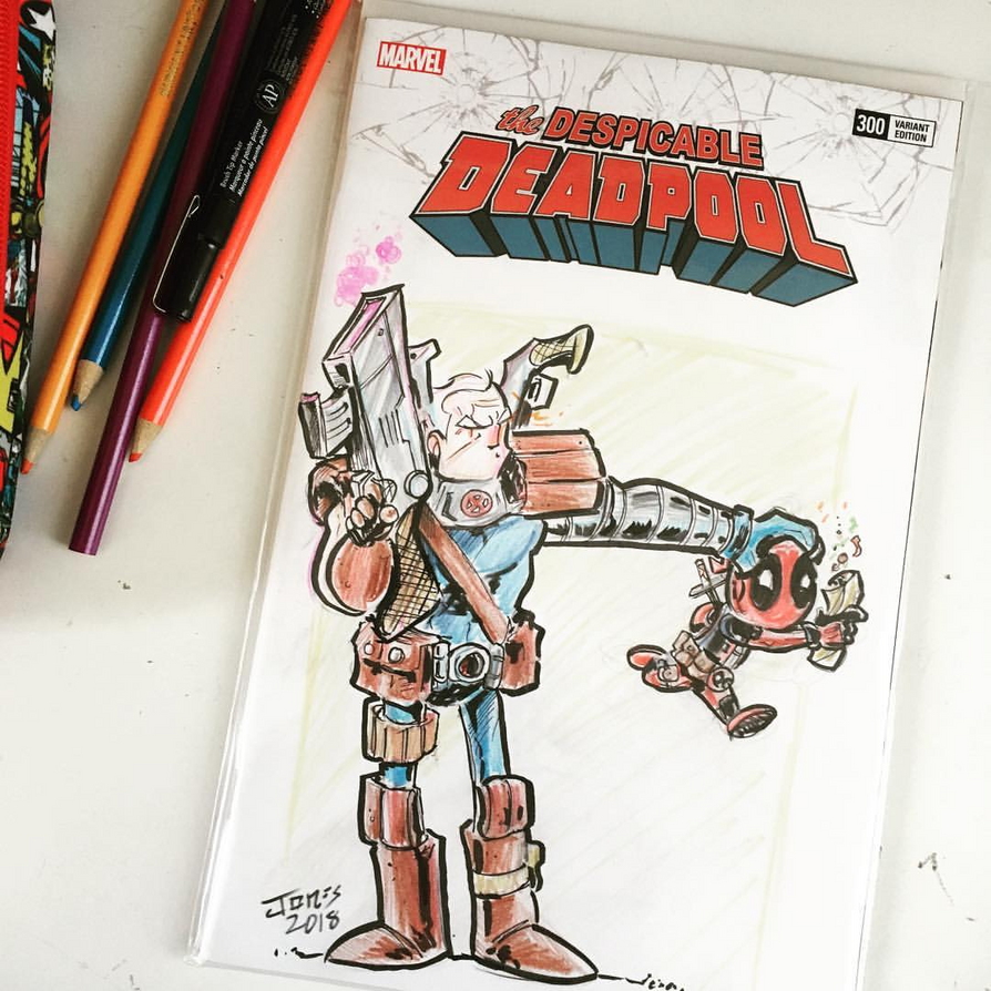 Deadpool Sketch Cover Commission by Honez