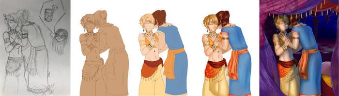 :BL: Prince and servant (steps) by dyddycat