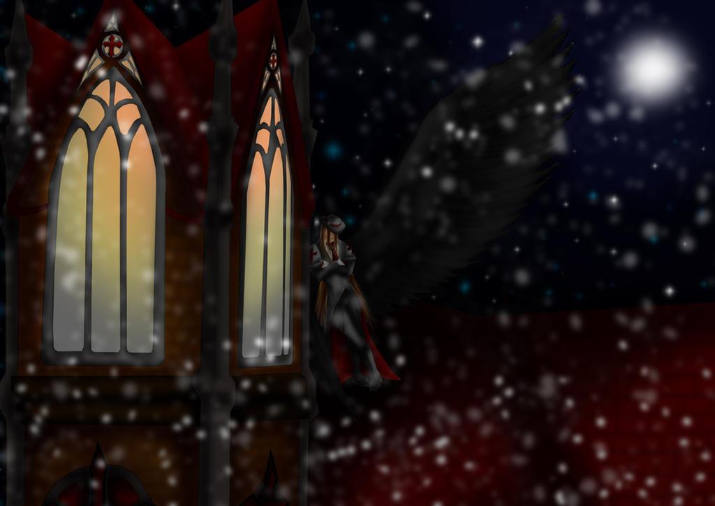 Fallen Angel Hao -First snow by Haoxannaxyoh