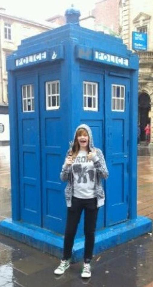Floating About in my Tardis by OliviaWhyteART
