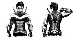 Nightwing design by Dafuq-Izdis-Schitt