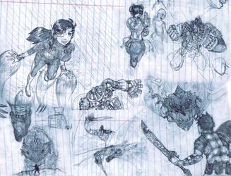 Notebook sketches by Dafuq-Izdis-Schitt