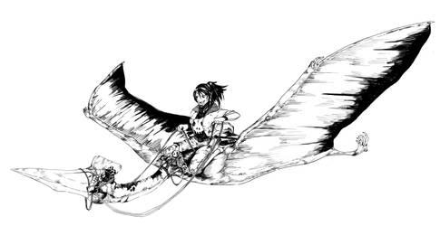 Quetzalcoatlus's rider by Dafuq-Izdis-Schitt