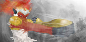 Infernape used Mach Punch by Dafuq-Izdis-Schitt