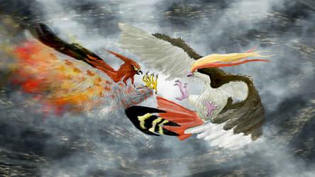 Sky Battle by Dafuq-Izdis-Schitt