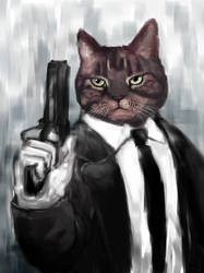 Cat in a suit by Dafuq-Izdis-Schitt