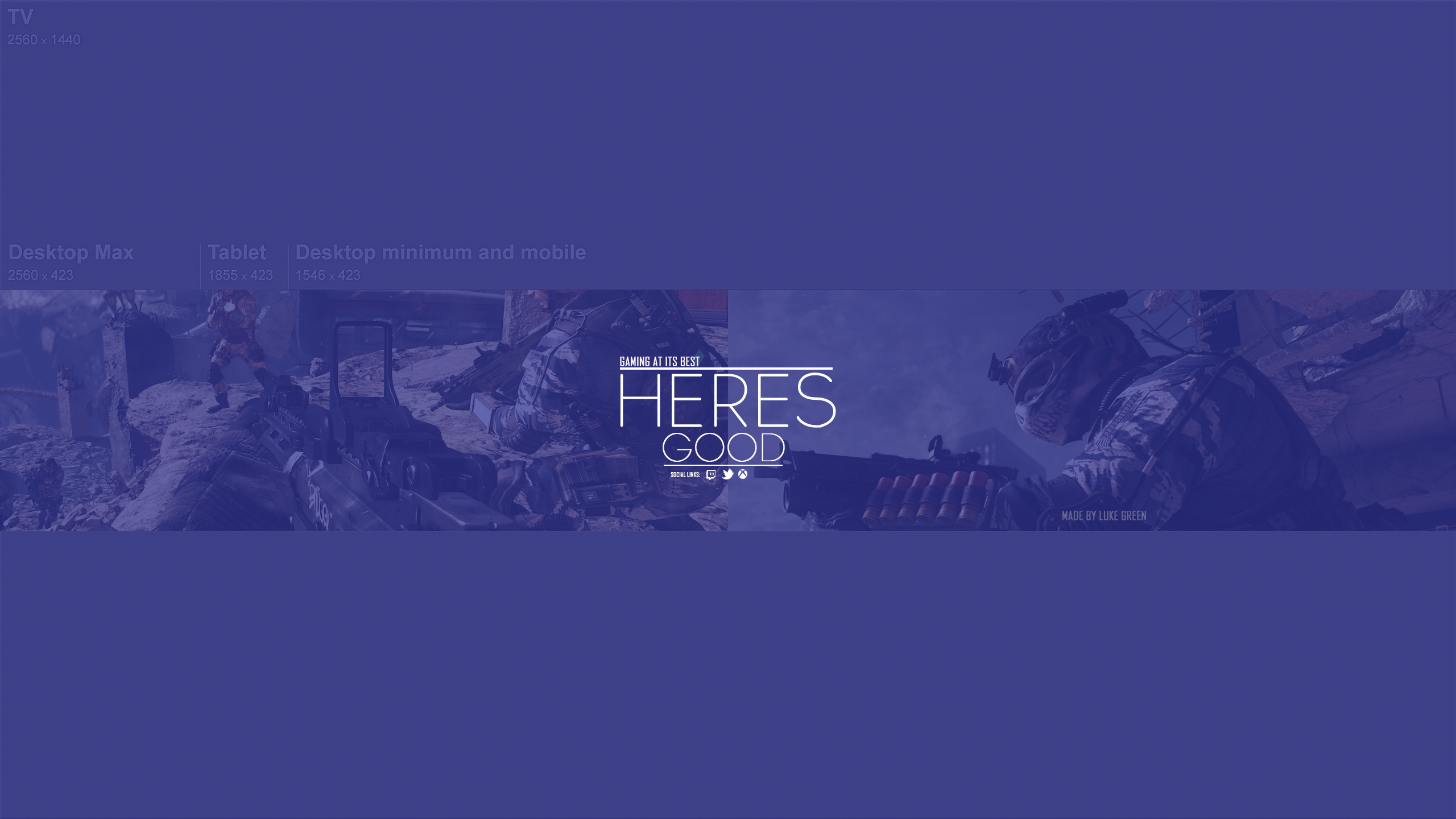 Youtube Banner Heres Good by Exitrax on DeviantArt
