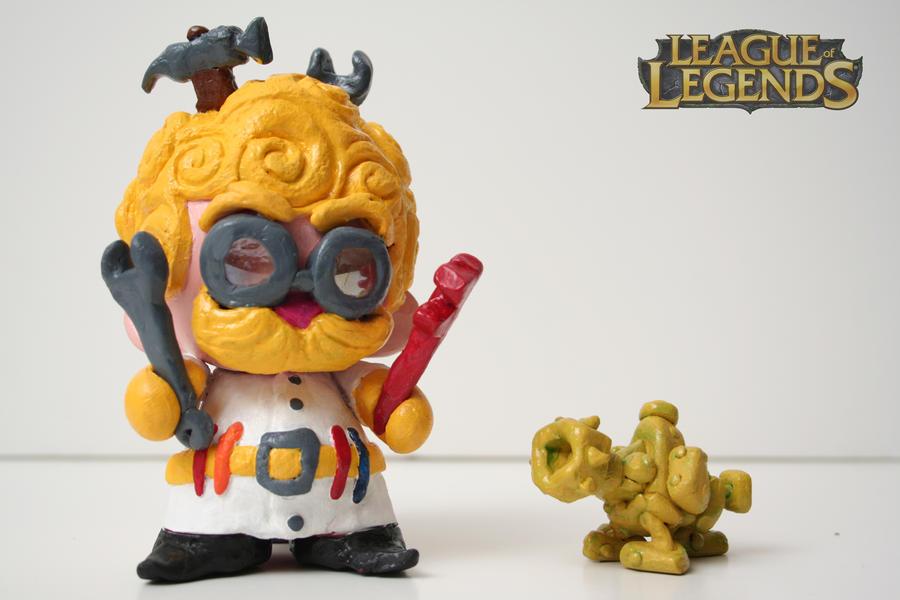 Heimerdinger Sculpture by OH-MisterLoki
