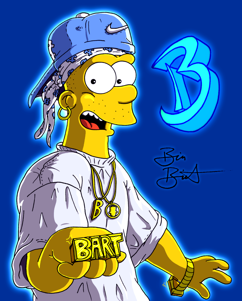 Bart Simpson hip hop, poster Young B-Zay - 2007 by Simpsonizer on ...