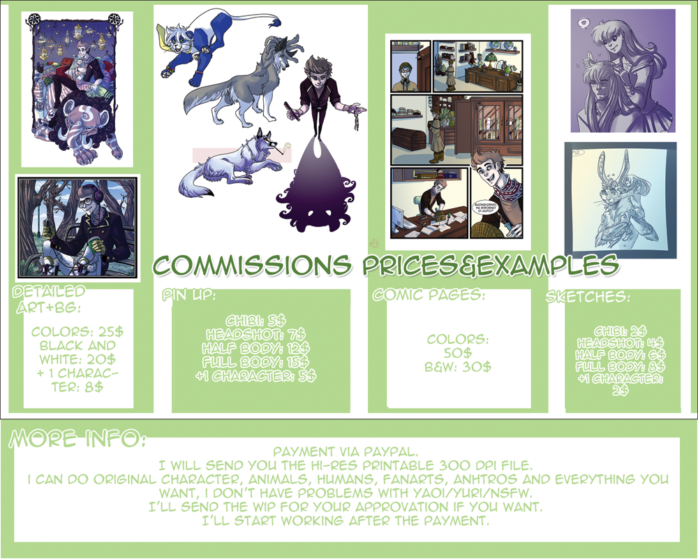 Commissions Prices by EliaOwl