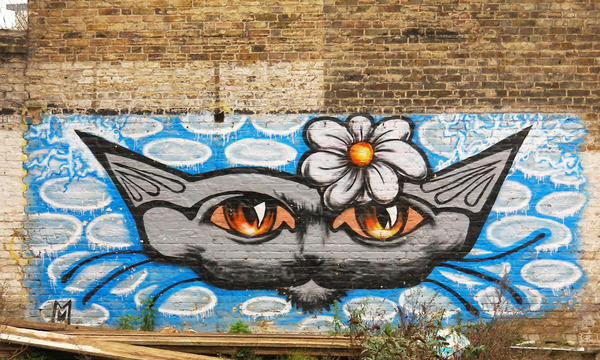BIG ELECTRIC CAT graffiti 2 by mORGANICo-cOM