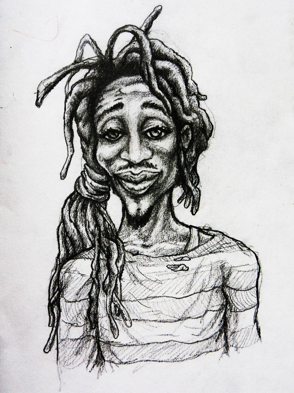 One love Rasta man sketch by mORGANICo-cOM