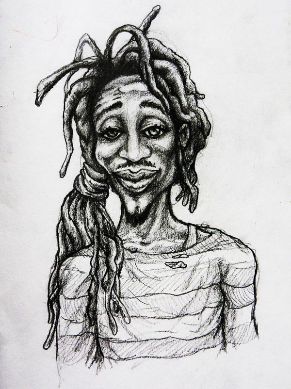 One love Rasta man sketch by mORGANICo-cOM