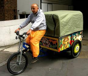 Krishna's FreeFood BikeMural4 by mORGANICo-cOM