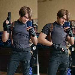 Leon Kennedy cosplay by GraysonFin