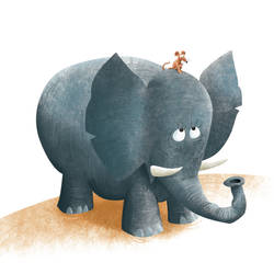 The Mouse and the Elephant by roweig