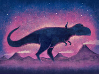 Human figure with T-Rex by roweig