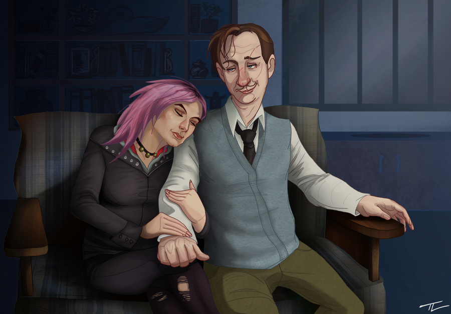 Lupin and Tonks, complete by tree27