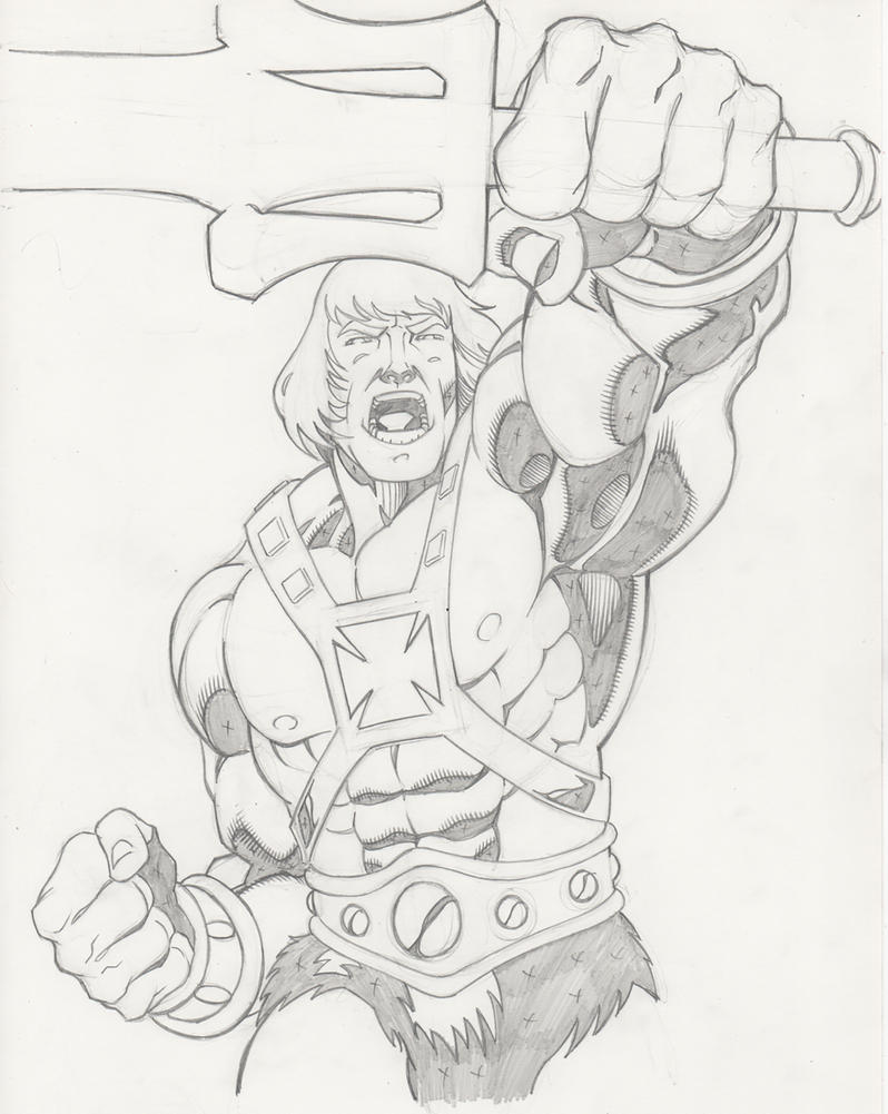 He Man Pencils by greggpaulsen