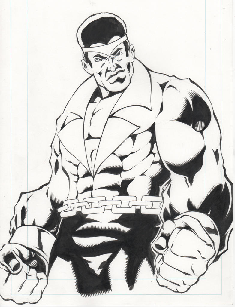 70's Luke Cage Inks by greggpaulsen